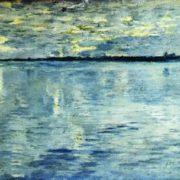 Isaak Ilich Levitan. Lake. Evening