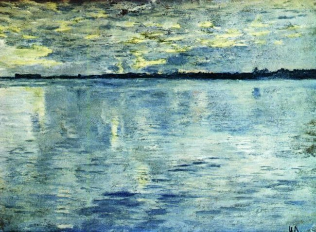 Isaak Ilich Levitan. Lake. Evening