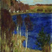 Isaak Ilich Levitan. Lake. Spring