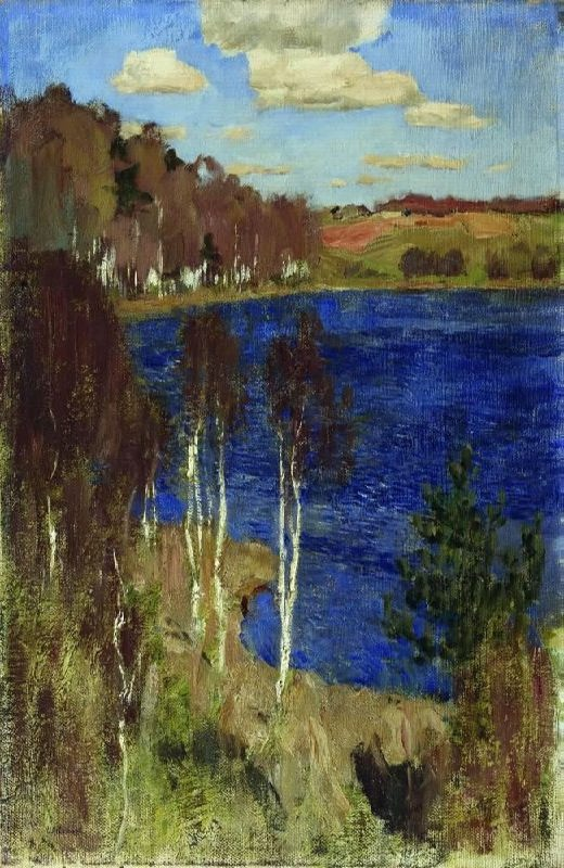 Isaak Ilich Levitan. Lake. Spring
