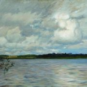 Isaak Ilich Levitan. Lake. The gray day