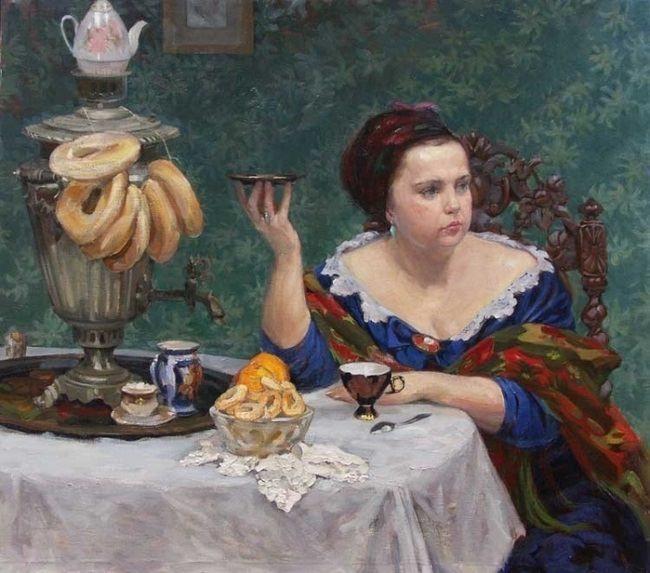 Ivan Kirillov. Tea drinking