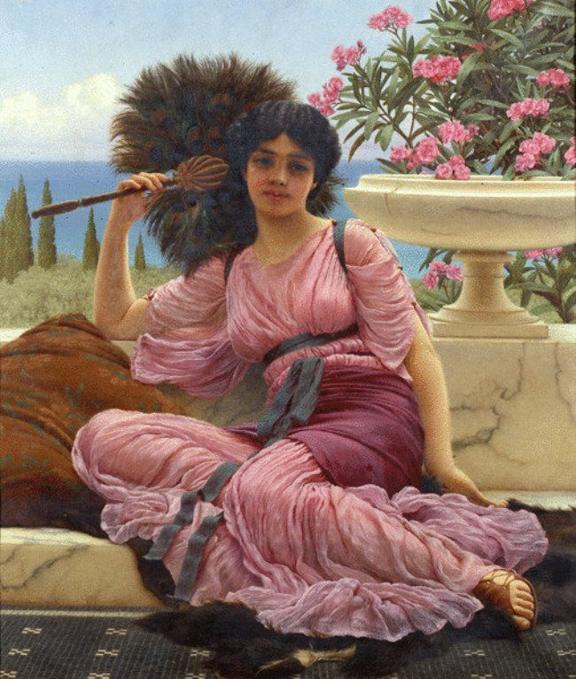 John William Godward. Florbellifera