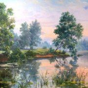 Karelian Lakes. Artist Dmitry Levin