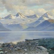 Konstantin Yakovlevich Kryzhitsky. Lake in the mountains