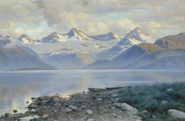 Konstantin Yakovlevich Kryzhitsky. Lake in the mountains