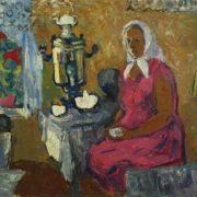 Larisa Beshkinskaya. At the samovar. 1971