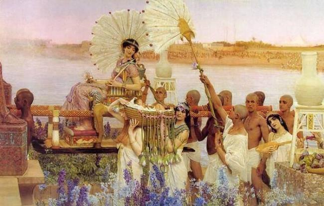 Lawrence Alma-Tadema Sir. The finding of Moses
