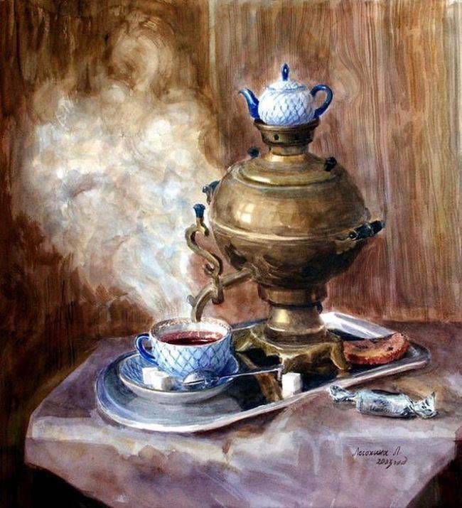 Lesohina Lyubov Yurievna. Hot tea