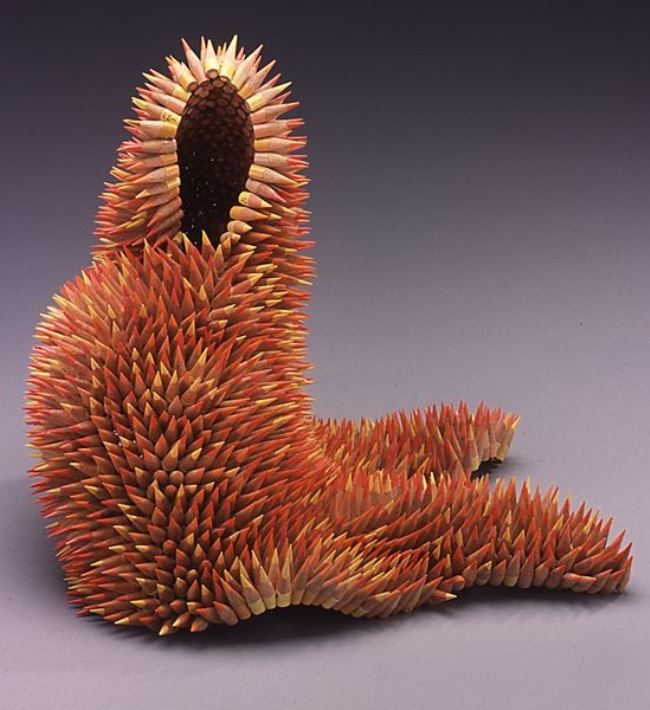 Lovely sculpture of pencils by Jen Maestre