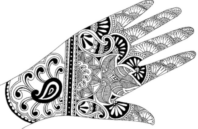 Magnificent mehndi design