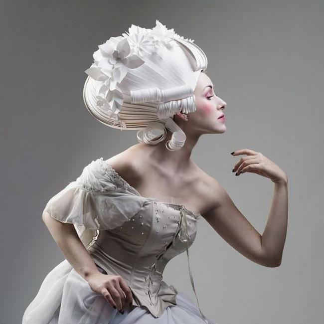 Magnificent paper wig by Asya Kozina