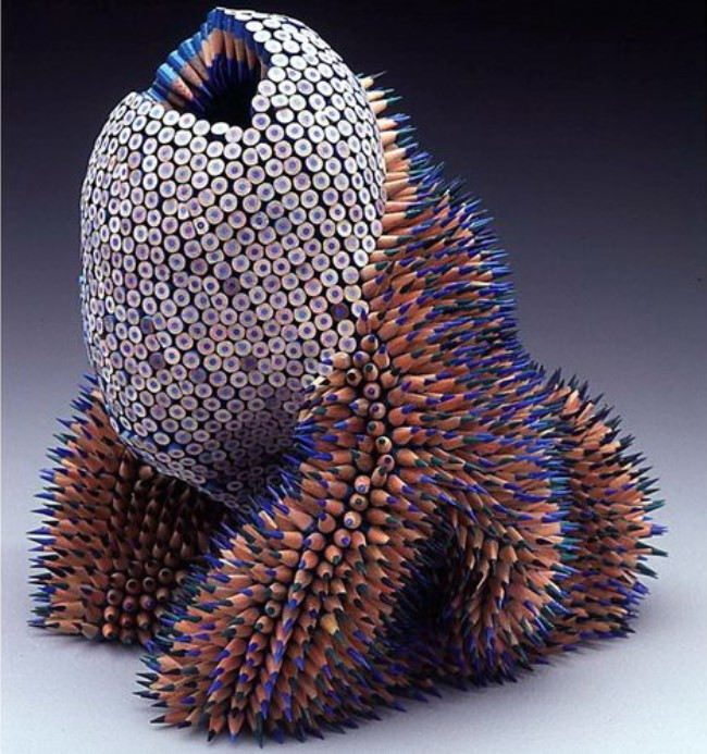 Magnificent sculpture of pencils by Jen Maestre