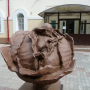 Monument to cabbage in Tomsk, Russia