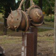 Monument to chestnut in Kiev