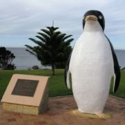 Monument to penguin in Australia