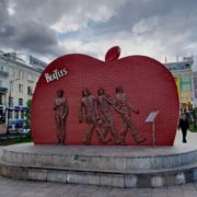 Monument to the Beatles in Mongolia