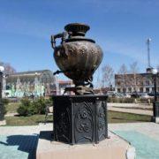 Monument to the Samovar in Yelabuga, Tatarstan, Russia