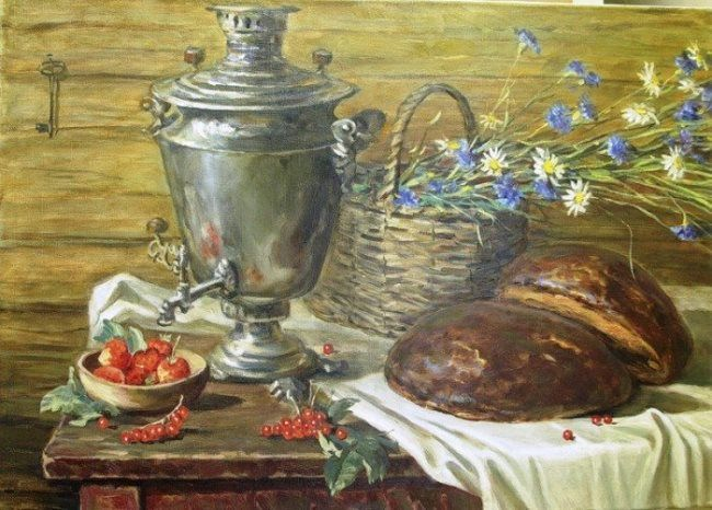Morev Andrey. Still Life with a Samovar