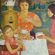 Nikolay Zadonsky. Tea drinking. 1977
