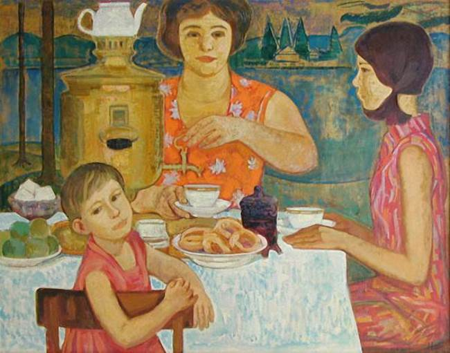Nikolay Zadonsky. Tea drinking. 1977