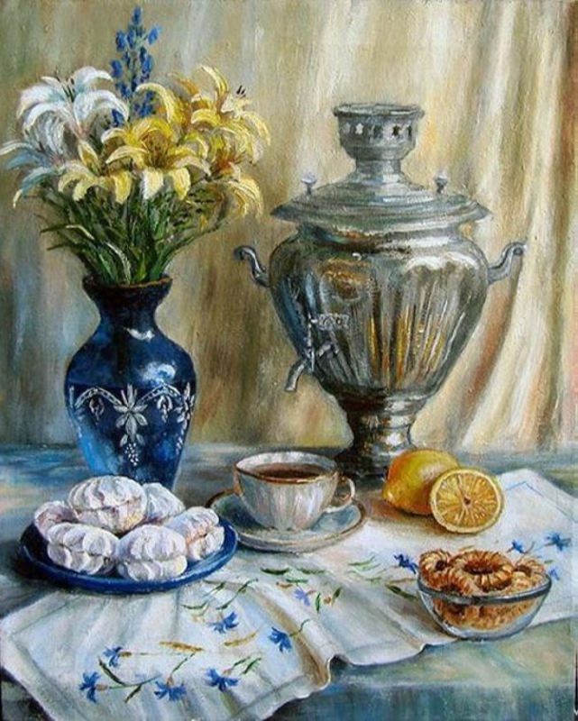 Olga Pavlovna Vorobyova. Invitation to tea