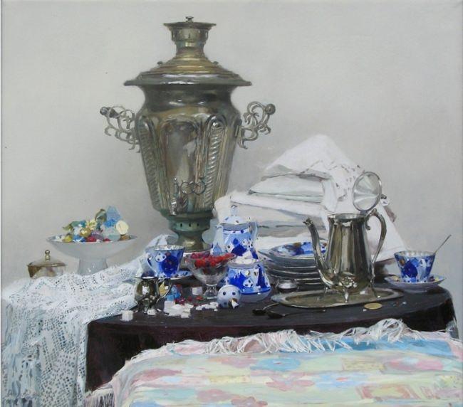 Olga Petrovna Dolgaya. Still life with sweets
