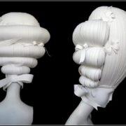 Paper wigs by Nikki Salk & Amy Flurry
