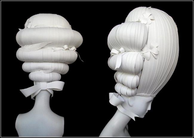 Paper wigs by Nikki Salk & Amy Flurry