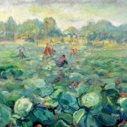 Pavel Kuznetsov. Collecting cabbage