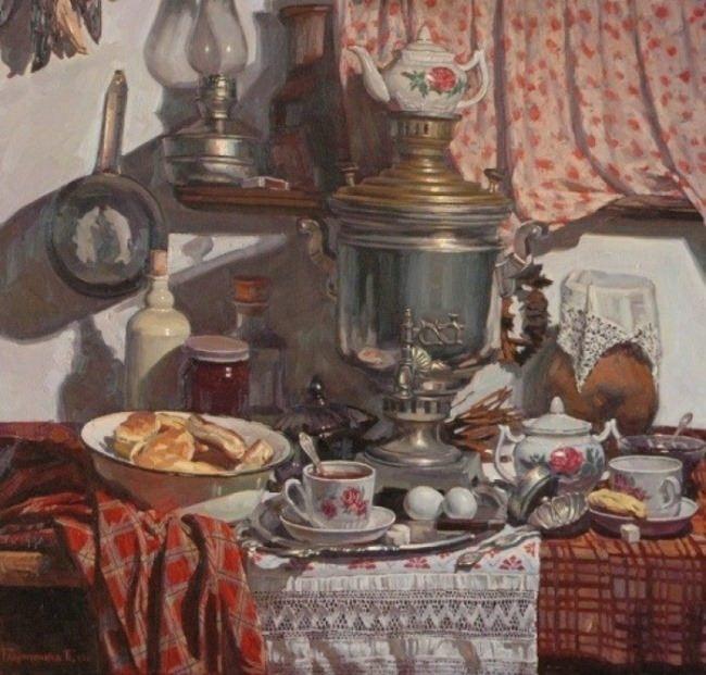 Pavel Mikhailovich Gavrichenkov. Rustic Still Life