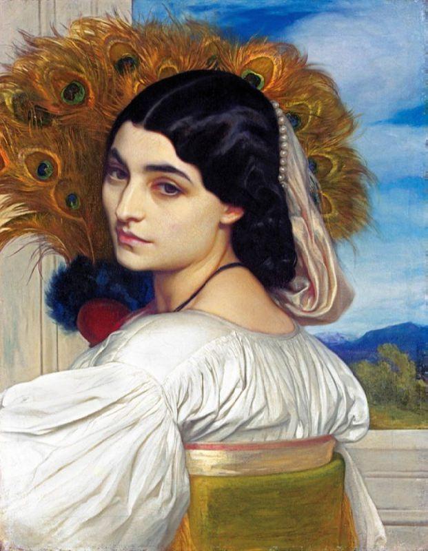 Pavonia by Frederic Leighton, 1858-59