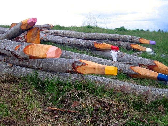 Pencils in Miass, Russia