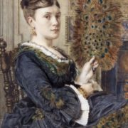 Poynter, Edward John. The Peacock Fan, Portrait of Elizabeth Courtauld
