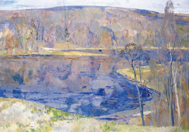 Pyotr Timofeevich Fomin. The lake is cleared. 1989