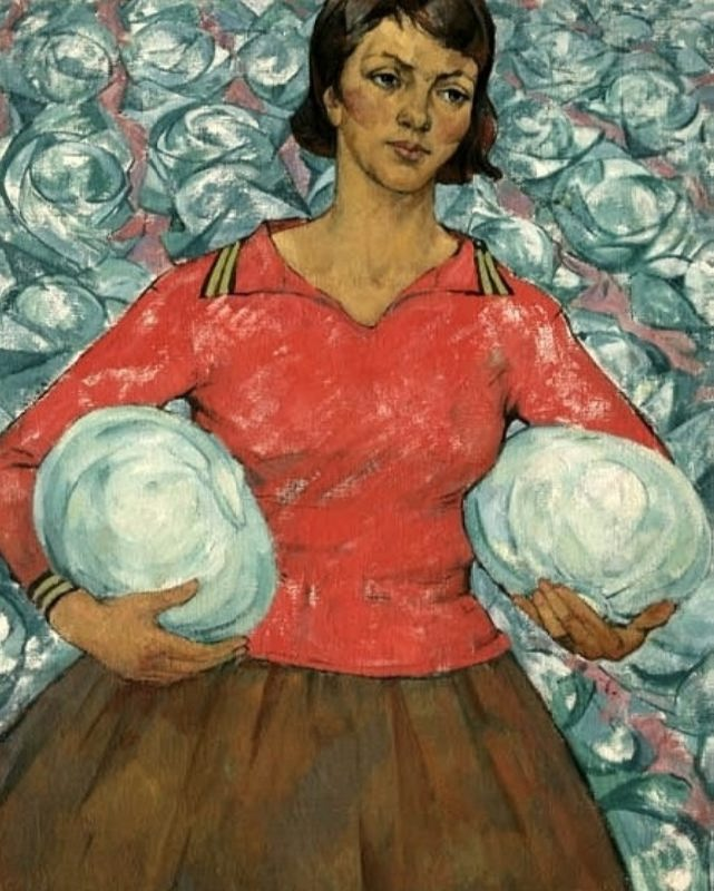 Savitsky Mikhail Andreevich. Woman with two heads