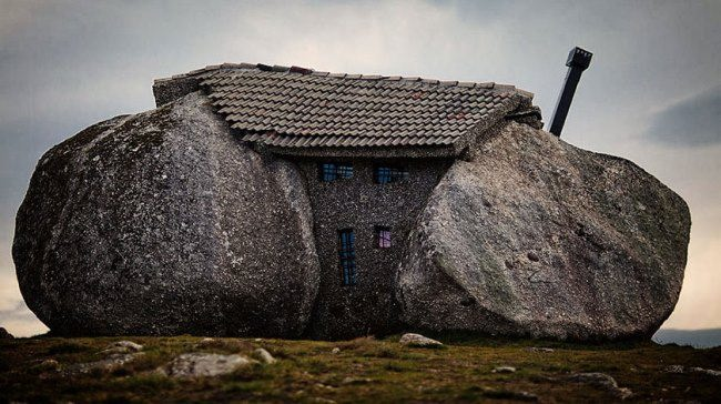 Stone house in the mountains