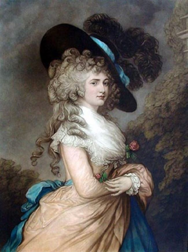 Thomas Gainsborough. Lady Georgiana Cavendish, 1787