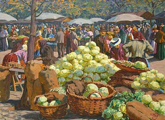 Vaclav Maly. Cabbage Market