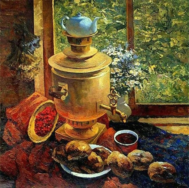 Victor Yuryevich Dovbenko. Breakfast at the dacha