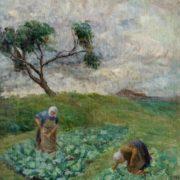 Vikentiy Trofimov. Weeding the cabbage. 1930s