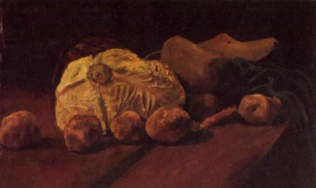 Vincent van Gogh. Still-Life with Cabbage and Clogs. 1881