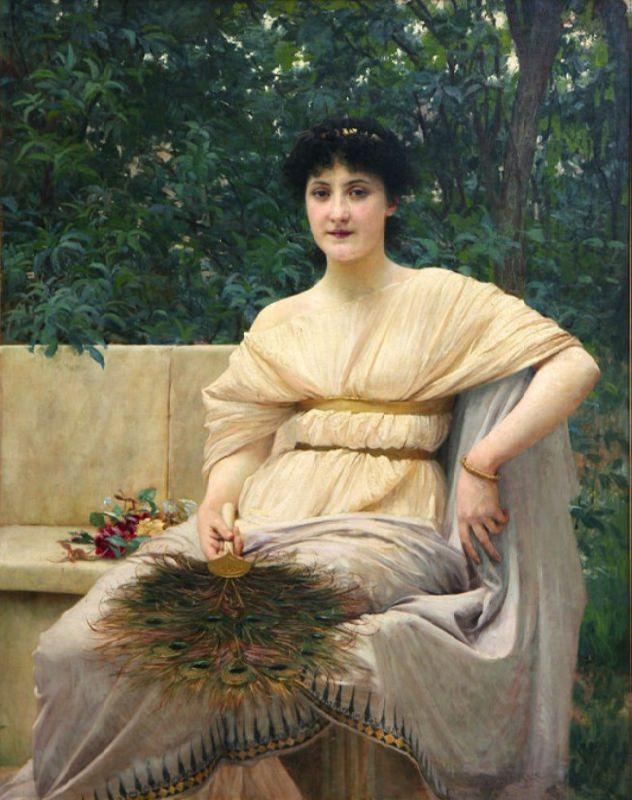 Vlaho Bukovac. Young Patrician Lady, 1890