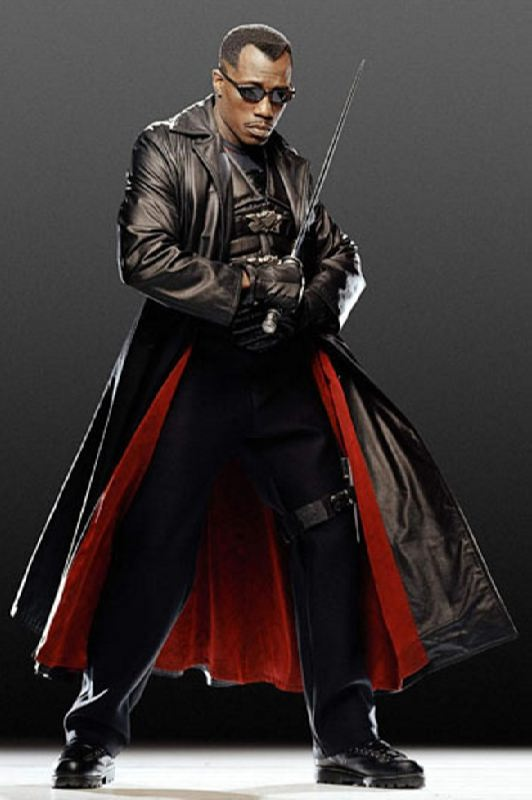 Wesley Snipes in the role of Blade