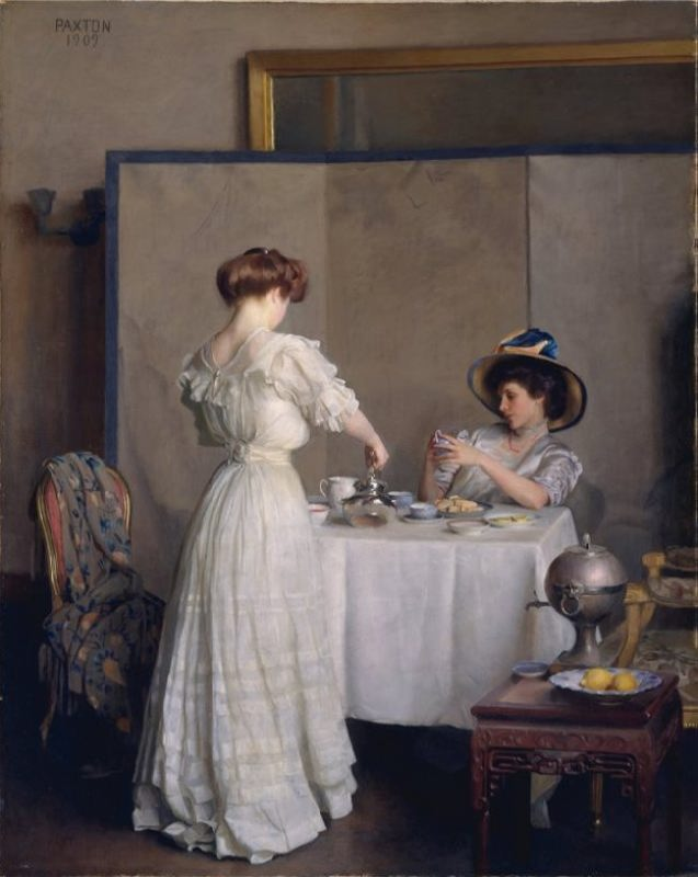 William McGregor Paxton. Tea Leaves, 1909