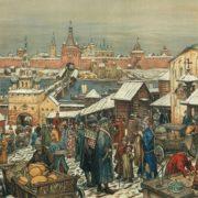 A.M. Vasnetsov. Novgorod bargaining. 1909