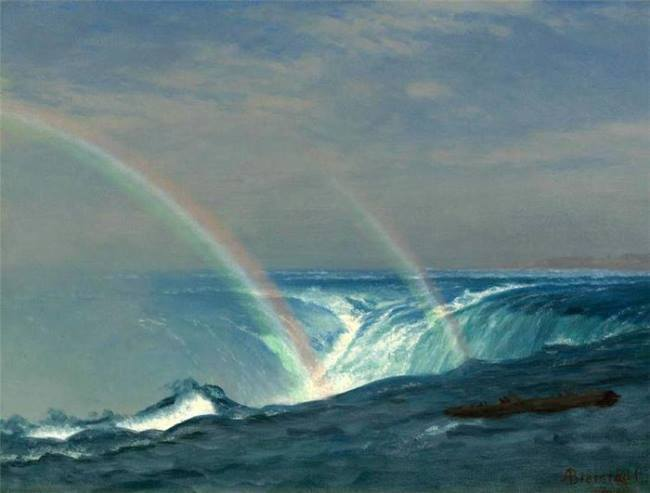Albert Bierstadt. Home of the Rainbow, Horseshoe Falls, Niagara