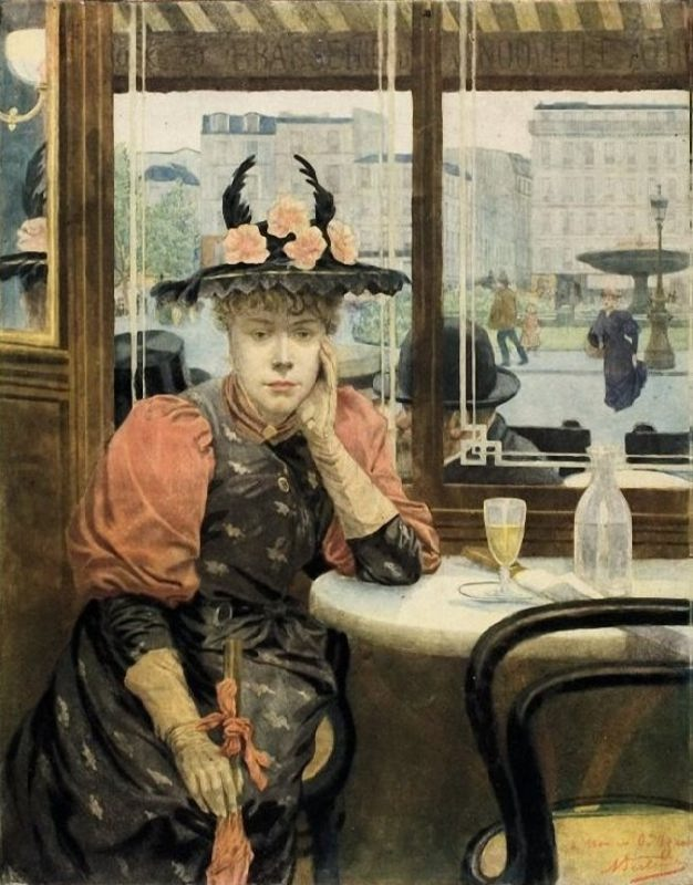 Albert Emmanuel Bertrand. The Absinthe Drinker. 1890