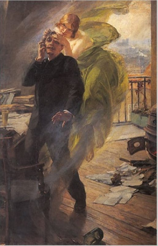 Albert Maignans. Green Muse, 1895