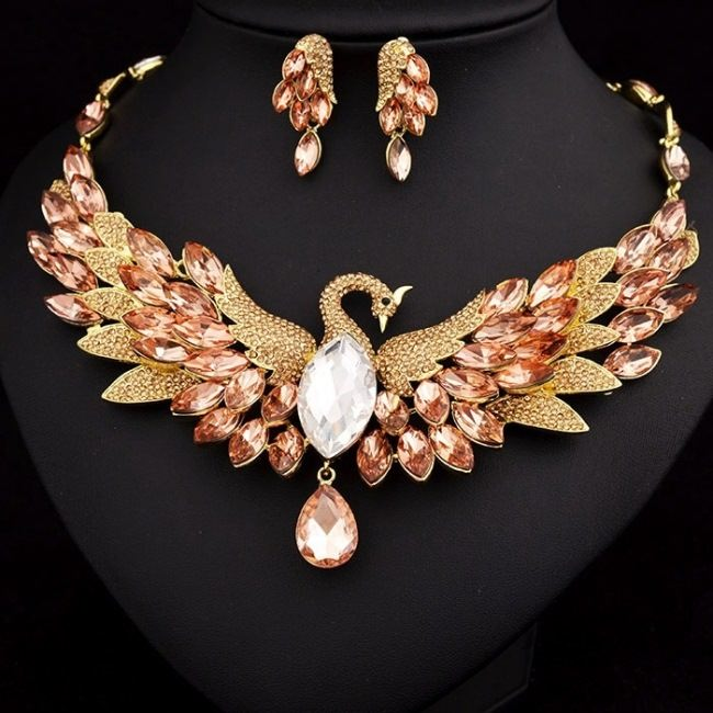 Amazing necklace and earrings Firebird
